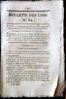 ILE BOURBON LA REUNION   ORDONNANCE CONCERNANT LE GOUVERNEMENT DE L'ILE 1825 - Décrets & Lois