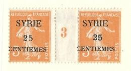 Millésime Semeuse Syrie Yvert 106 Maury 111 - Syrie (1919-1945)