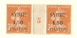 Millésime Semeuse Syrie Yvert 111 Maury 116 - Syrie (1919-1945)
