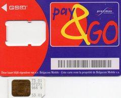Carte De Téléphone Portable Sim - Proximus - Beigique - Cartes GSM, Recharges & Prépayées