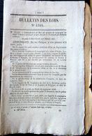 59 ANZIN CHEMIN DE FER TRAIN COMPAGNIE MINIERE  1846 PROLONGEMENT JUSQU'A SOMAIN DES LIGNES - Décrets & Lois