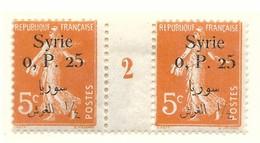 Millésime Semeuse Syrie Yvert 127 Maury 132 - Syrie (1919-1945)