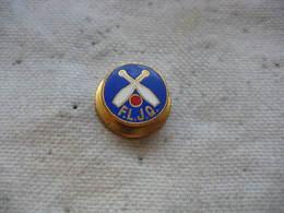 Ancienne Insigne De Boutonniere FLJQ (Fédération Luxembourgeoise Des Jeux De Quilles) - Bowling