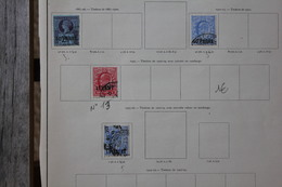 Lot De Timbres Anciens Levant Bureaux Anglais Sur Page D'album - British Levant