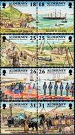 Alderney 1997: Garrison Island Michel-No. 108-115 ** (Harbour Mannez Queen Railways) MNH BELOW POSTAL FACE VALUE (£2.00) - Alderney