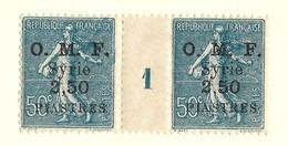 Millésime Semeuse Syrie Yvert 87 Maury 92 - Syrie (1919-1945)