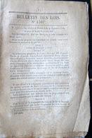 33 BORDEAUX 34 SETE CHEMIN DE FER TRAIN CREATION DE LIGNES ET EMBRANCHEMENTS 1846 - Décrets & Lois