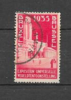 Exposition Internationale De Bruxelles De 1935. N°387 Chez YT. (Voir Commentaires) - 1935 – Brüssel (Belgien)