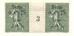 Millésime Semeuse Syrie Yvert 144 Maury 135 - Syrie (1919-1945)