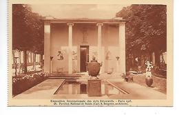 PARIS 1925 EXPO. INT. ARTS DECORATIFS / CPA VIERGE N° 28 Le Pavillon National De La SUEDE  (carnet) - Exposiciones