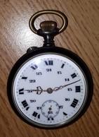 Années 1900-montre à Gousset Acier Qui Fonctionne-diamètre De 4,5cm-très Bel état - Watches: Bracket