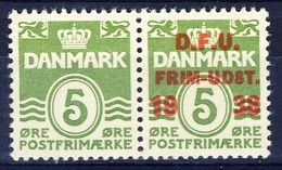 +D2857. Denmark 1938. Stamp Exhibition DFU. Pair. Michel 243. MH(*) - 1913-47 (Christian X)