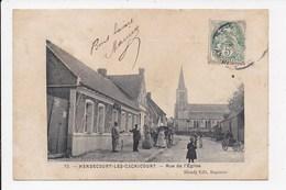 CPA 62 MENDECOURT LES CAGNICOURT Rue De L'église - France