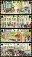 Alderney 1998: Garrison Island Michel-No.121-128 **(Post Church Police & Fire SS.COURIER) MNH BELOW FACE VALUE (£2.24) - Alderney