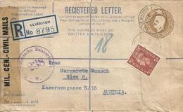 Österreich Austria 1947 Ulverston UK Registered Customs Censored Postal Stationary Cover - 1945-60 Brieven