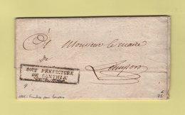 Sous Prefecture De Santhia - 1805 - Franchise Pour Lamporo - Departement Conquis De La Sesia - 1792-1815: Conquered Departments