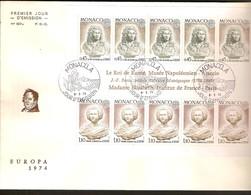 Cept 1974 Monaco Yvertn° Bloc 9 FDC (o) Oblitéré Cote 30 Euro - Europa-CEPT