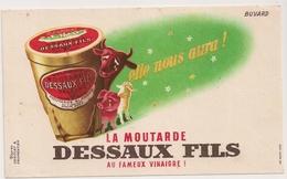 BUVARD La Moutarde DESSAUX FILS - Moutardes