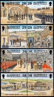 Alderney 1999: Garrison Island Michel-No.137-144 **(4 Forts Royal Scots Engineer Artillery) MNH BELOW FACE VALUE (£2.26) - Alderney