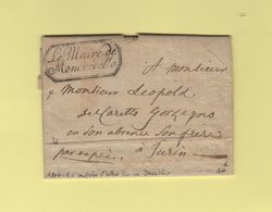 Le Maire De Moncrivello - 1807 - En Expres - Lettre Concernant Un Deserteur - Departement Conquis De La Sesia - Storia Postale