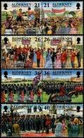 Alderney 2000: Garrison Island Michel-No.158-165 **(Boxing Ball Queen Bd Guard Of Honour) MNH BELOW FACE VALUE (£2.46) - Alderney