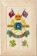 Carte Brodée Royal British Army Regiment SHERWOOD FORESTERS NOTTS ET DERBY - Regiments