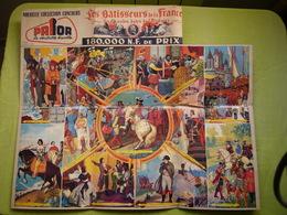 Pub Jeux Concours Biscottes Prior Les Batisseurs De La France 52 X 63 Cm - Advertising