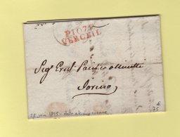 Verceil - 107 - Port Paye - 22 Juin 1815 Date Extreme Connue - Departement Conquis De La Sesia - 1792-1815: Conquered Departments