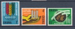 Ghana 1963 Mi: 138-140 Yt: 124-126 (PF/MNH/Neuf Sans Ch/**)(3809) - Ghana (1957-...)