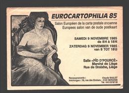 Cartophilie - Envelop/ Enveloppe Publicitaire - Eurocartophilia 85 - Liège - Salon Européen De La Carte Postale Ancienne - Bourses & Salons De Collections
