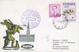 Cameroun Cameroon 1972 Brussels Sabena FFC First Flight Douala Boeing 707 Cover - Kameroen (1960-...)