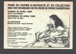 Cartophilie - Envelop / Enveloppe Publicitaire - Foire Du Papier D'antiquité Et De Collection - Liège - 1985 - Bourses & Salons De Collections