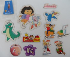 Lot De 12 Magnet Publicitaire Dora Pitch Astérix - Magnets