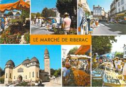 ** Lot De 4 Cartes ** COMMERCE Marché : Marchés Diversifiés En France - CPSM CPM Grand Format - - Mercados