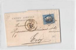 10 - AUBE / Troyes - 103769 - Lettre Avec Cachet - 1872 - Old Paper