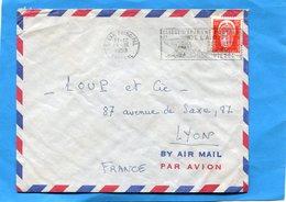 Marcophilie-AO F-Sénégal-lettre >France -cad 1959-Dakar + Flamme Caisse D'épargne-stamp N° 5 OFFICIEL - A.O.F. (1934-1959)
