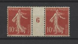 FRANCE. YT 138  Neuf **  Millésime  1907 - Millésimes