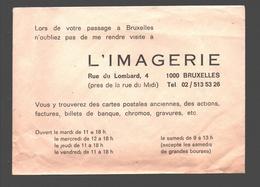 Cartophilie - Envelop / Enveloppe L'imagerie, Rue Du Lombard, Bruxelles - Bourses & Salons De Collections