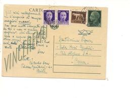 2450) Intero Postale 15c Imperiale Vinceremo Chieti 28-7-1945 Luogotenenza  Storia Postale - Storia Postale