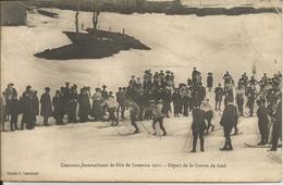 Concours International De Skis De Lamoura 1911 - Départ De La Course De Fond - France