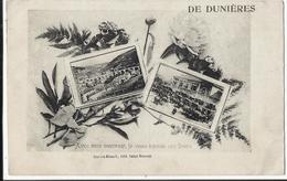 43. DE DUNIERES - Avec Mon Souvenir, Je Vous Envoie Ces Fleurs 1919 - Autres Communes