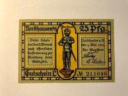 Allemagne Notgeld Nordhausen 25 Pfennig - [ 3] 1918-1933 : République De Weimar