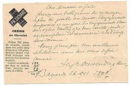 1890, Publicité Chocolat Suchard Recette Crème Au Chocolat, Bayards, Entier Postal. SCHOKOLADE. CHOCOLATE - Enteros Postales