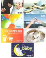 USA - 7 Cards - Walmart - Wal Mart - Carte Cadeau - Carta Regalo - Gift Card - Gift Cards