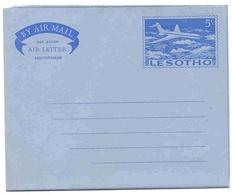 Lesotho Aérogramme 5 Cts Aerogram Air Letter Entier Entero Ganzsache Lettre Carta Belege Airmail Cover - Lesotho (1966-...)