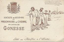 WW1 1914-18 SOCIETE DE SECOURS AUX PRISONNIERS DE GUERRE DU CANTON DE GONESSE ILLUSTRATEUR COSSON POEME J. DU BELLAY - Gonesse