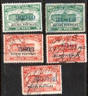 1926 BULTOS POSTALES X 5 Very Fine Scarce Group (297) - Dominicaanse Republiek