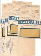 2454) Telegramma Italcable 5 Buste Nuove Italo Radio - Nuovi