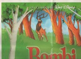 AFFICHE / POSTER BAMBI - UN CLASSIQUE DE WALT DISNEY - OFFERT PAR WINNIE DISTRIBUE PAR GAUMONT BUENA VISTA INTERNATIONAL - Posters