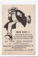 "CPA PUBLICITE ""Au Vrai Bon Marché"" Gustave Cocquerel     Audruicq - Pubblicitari"